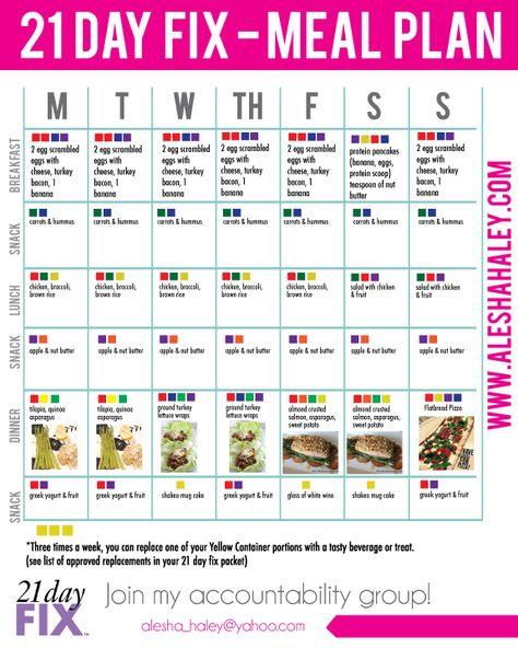 21 day fix MEAL PLAN // #21dayfix #mealplan