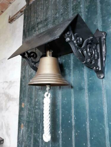 Antieke Bronzen Bel.Oude Antiek Bronzen Kloosterbel Cafebel Scheepsbel Trekbel Bel