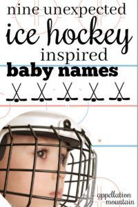 Ice Hockey Baby Names 9 Choices For Fans Appellation Mountain Hockey Baby Baby Names Baby Boy Hockey