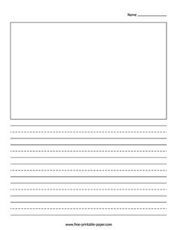 Blank writing paper with picture box how to write a lit review for a dissertation