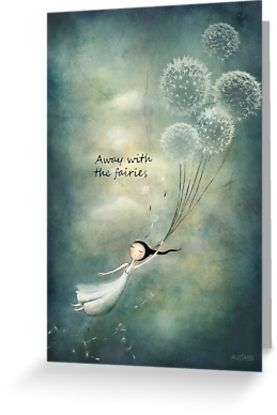"""Away with the fairies "" Canvas Prints by Amanda Cass 