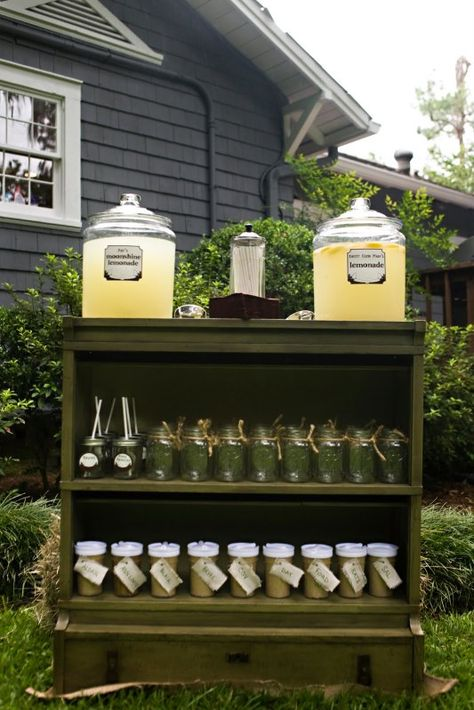 I love this lemonade stand idea from this huckleberry finn themed party.