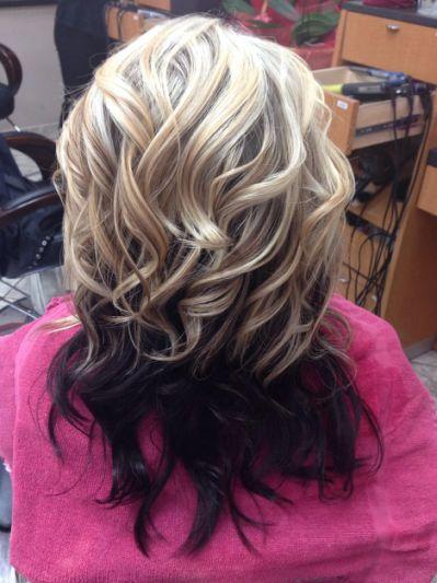 Top Half Brown Bottom Half Blonde Long Hair Styles Hair Hacks Hair Styles