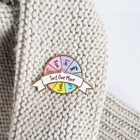 'Just One More' Spinner Enamel Pin – Twill & Print