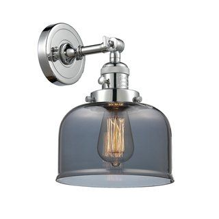 Innovations Lighting Large Bell 1 Light Adjustable Sconce With Switch Bulbs Included Dimmable Vintage Filament Bulb Included Seedy Black Antique Sconces Sconce Lighting Wall Sconce Lighting