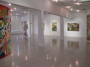 """Heather Brammeier, Associate Professor of Art, Opens Art Exhibits of her Paintings and Textiles // """"Intuitive Geometry"""", Pearce Gallery, 202 N. 2nd Street, Dunlap, will run August 17-September 3. The opening reception will be August 17 from 6-8 p.m.  //  """"Via Alternative Descriptions'"""", Peoria Art Guild, 203 Harrison Steet, Peoria, will run August 13-September 14. The opening reception is Saturday, August 18 from 6-8 p.m."""