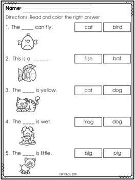 Kindergarten Read And Write Freebie By Bfc And Co Teaching Resources Tea Kindergarten Reading Worksheets Kindergarten Reading Kindergarten Phonics Worksheets Free printable writing worksheets for 5