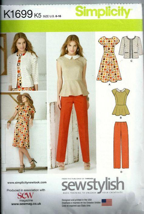 Dress Threadcount 1604 New Pattern Jacket Tunic Sizes 8-16 Skirt /& Trousers