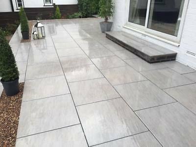 Premium Grigio Grey Patio Porcelain Paving Slabs Tiles Pavers 900x450= 20mm | EBay | Patio Garden Design, Outdoor Tile Patio, Patio Tiles