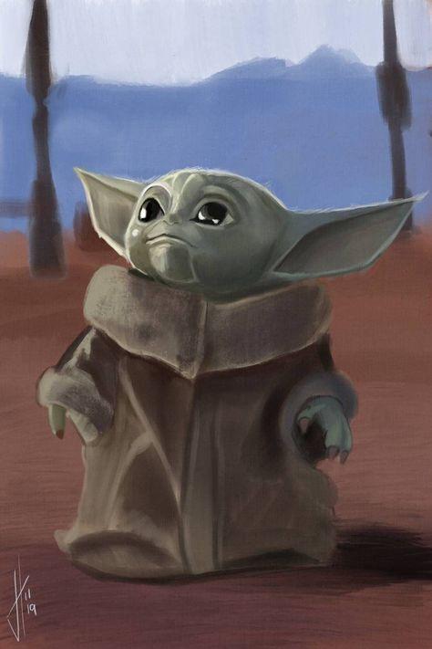 Baby Yoda Art Print The Mandalorian