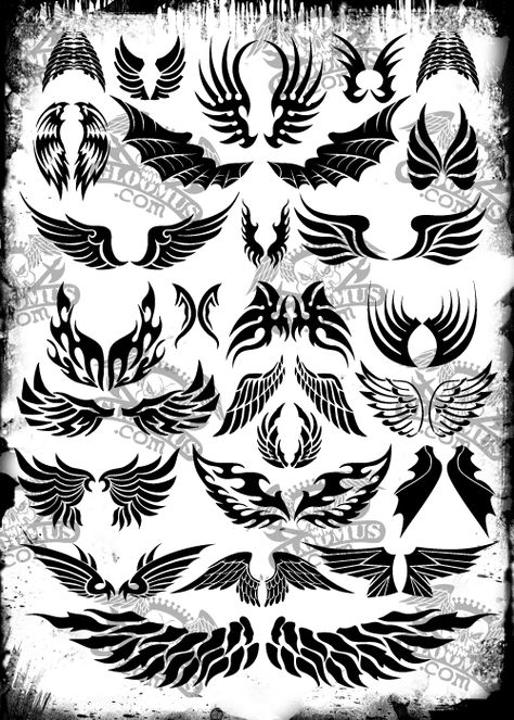 vector | Download Free Vector Tattoo Wings: Direct link