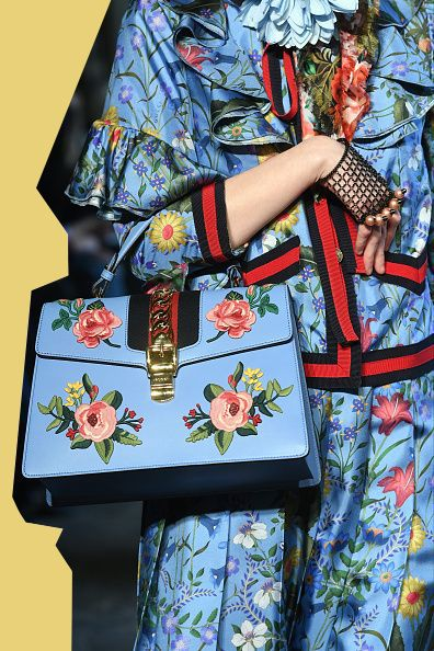 A moldel walk the runway during the Gucci Cruise 2017 fashion show at the Cloisters of Westminster Abbey on June 2 2016 in London England Más
