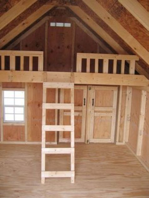Download Outdoor Playhouse Plans With Loft #shedplans