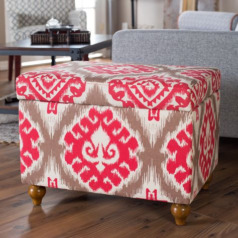 Peachy Have To Have It Belham Living Red Ikat Storage Ottoman Short Links Chair Design For Home Short Linksinfo