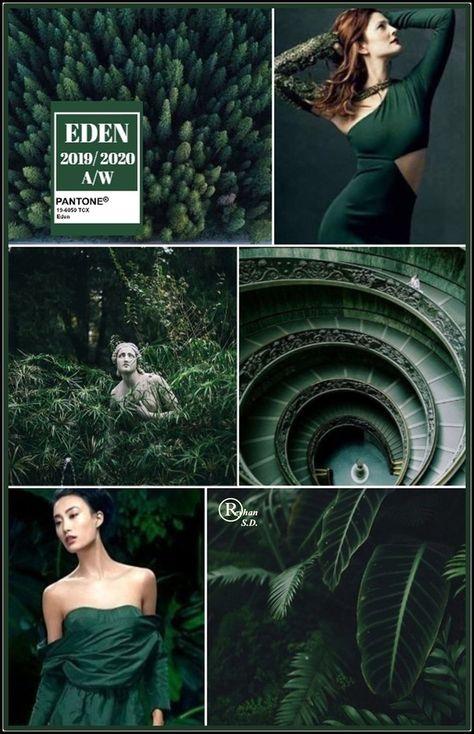 '' Eden'' Pantone - Autumn/ Winter 2019/ 2020 Color- by Reyhan S.D.  #Autumn #Color #eden #pantone #Reyhan #SD #Winter