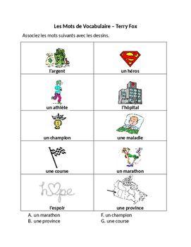 Terry Fox Activity Booklet French   Classe de Français