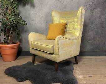 Mustard Velvet Cocktail Chair Bedroom Chair Accent Chairs In