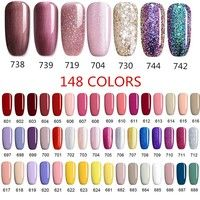 Buy UR SUGAR 148Colors 7.5ml/Bottle Rainbow Glitter Pure Color Soak Off UV Gel Polish at Wish - Shopping Made Fun