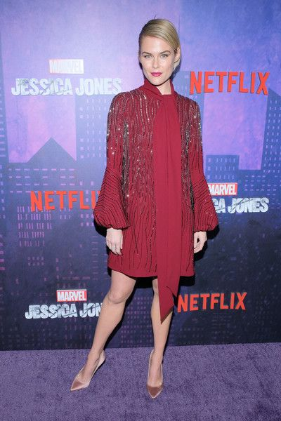 Actress Rachael Taylor attends the 'Jessica Jones' Season 2 New York Premiere.