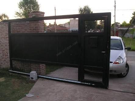 Image Result For Portones Para 2 Coches Automatico Puertas Automaticas Tipos De Puertas Puertas Corredizas Modernas