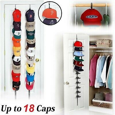Can Also Be Hung From A Ceiling Hook Baseball Hats Are Displayed Facing Forward So Cap Baseball Hat Display Ideas Wall Baseball Hat Wall Display Cap Organizer