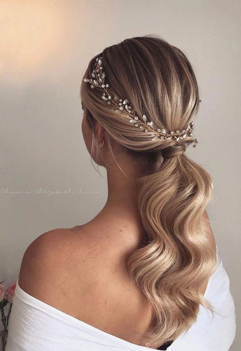 Gorgeous Wedding Hairstyles For The Elegant Bride  #bride #elegant #gorgeous #hairstyles #wedding
