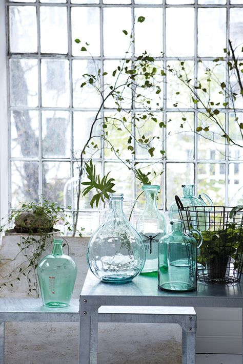 A collection of glass bottles. Explore our extensive range of #demijohns at chezpluie.com