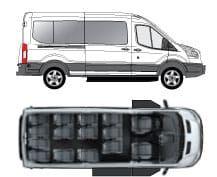 Ford Transit Van 15 Passengers Floor Plan 12 Passenger Van Ford Transit Passenger