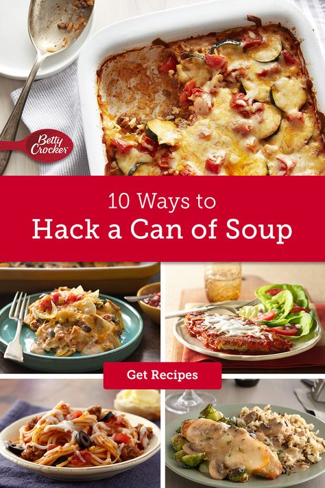 We know you have a lot of tricks up your oven mitt, but these soup can recipes may surprise even you. Start with some of our favorite Progresso soups and end up with hearty casseroles, creamy pot pies and more. Betty can help you find the most delicious short cuts to dinner.