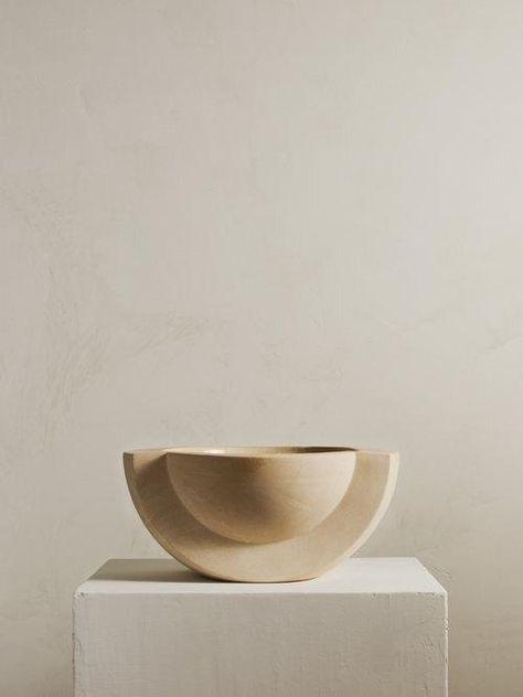 SATURN Ceramic Bowl in Sand