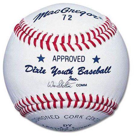 Macgregor No 72 Official Dixie Youth Baseballs 1 Dozen Walmart Com Youth Baseball Baseball First Franklin Sports