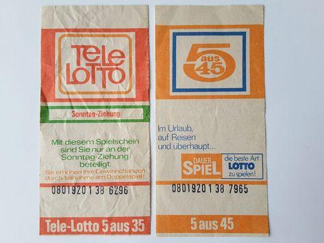 Ddr Lottoscheine Lottoscheine Ddr Spielzeug Und Ddr