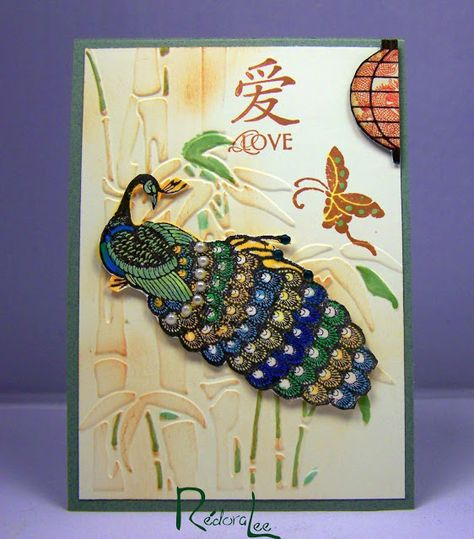 Peacock Journal Card