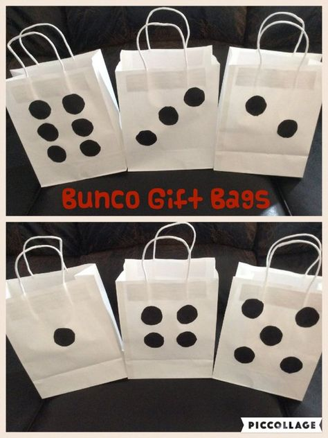 Items similar to Bunco or Casino Night Party Gift Bags on Etsy