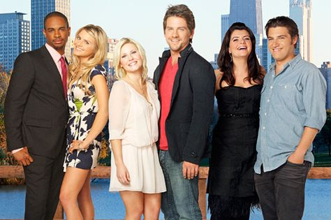 Happy Endings. This show is so funny that sometimes tears run down my face from laughing so hard.