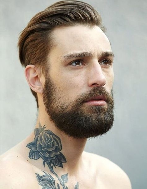 Awesome Flower Neck Tattoo Designs for Men