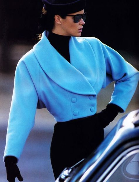 Best 80's Fashion Look : Gilles Bensimon for Elle magazine, November 1987.