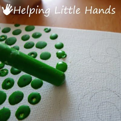 Helping Little Hands: Melted Crayon Art and Pointillism + Books