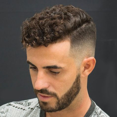 27 Cool Short Sides Long Top Haircuts For Men 2020 Guide Curly Hair Styles Curly Hair Men Curly Hair Fade