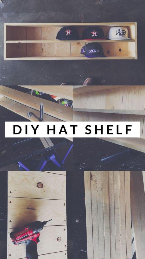 Baseball Hat Organizer – Beginner DIY Project