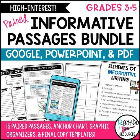 Informative Writing Prompt Passages Bundle