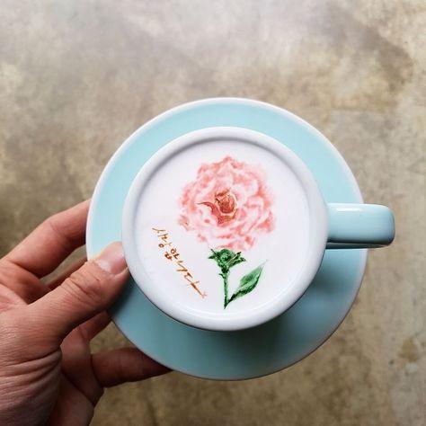 A Barista From Korea Who Creates Art On Coffee