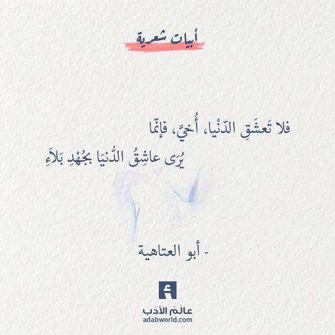من اجمل ابيات الشعر في الزهد لـ أبو العتاهية عالم الأدب Arabic Phrases Words Quotes Arabic Quotes