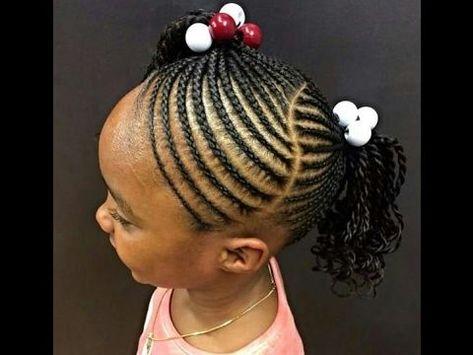 Kids Braids Gallery Braids With Small Accessories Braids Hairstyles For Black Kids In 2021 Kids Braids With Beads Kids Braids Lil Girl Hairstyles
