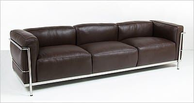 Corbusier Style Grande Feather Relaxed Sofa 1970s