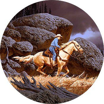 Cowboy On Horse Spare Tire Cover Continue To The Product At The
