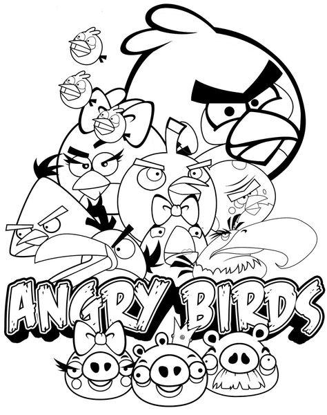Gratis Kleurplaten Angry Birds.Angry Birds Kleurplaten Poster Kleurplaten Kleurplaten