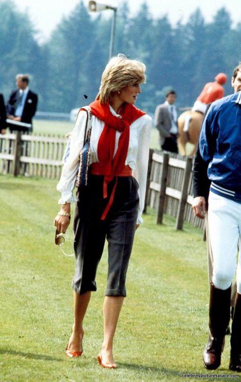 Pedal Pushers , Windsor Princess Diana Photo By:alpha-Globe Photos, Inc