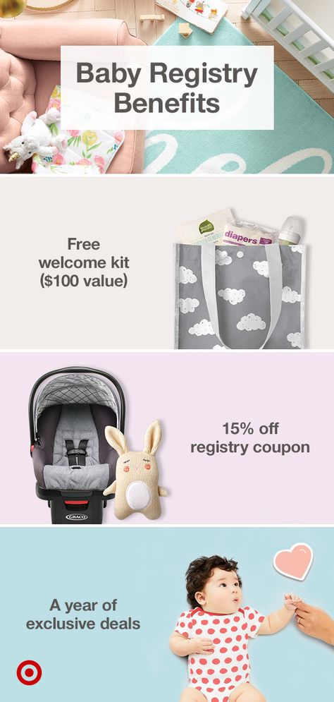 Create a baby registry with baby essentials for new parents, clothes, nursery ideas and gifts, plus enjoy additional perks that come with it.