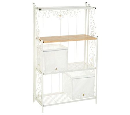 Temp Tations Collapsible Baker S Rack With Baskets Qvc Com